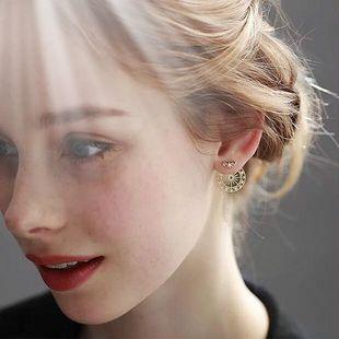 ins 超仙复古一款两戴后挂式摩天轮耳环女2020新款潮网红爆款耳钉