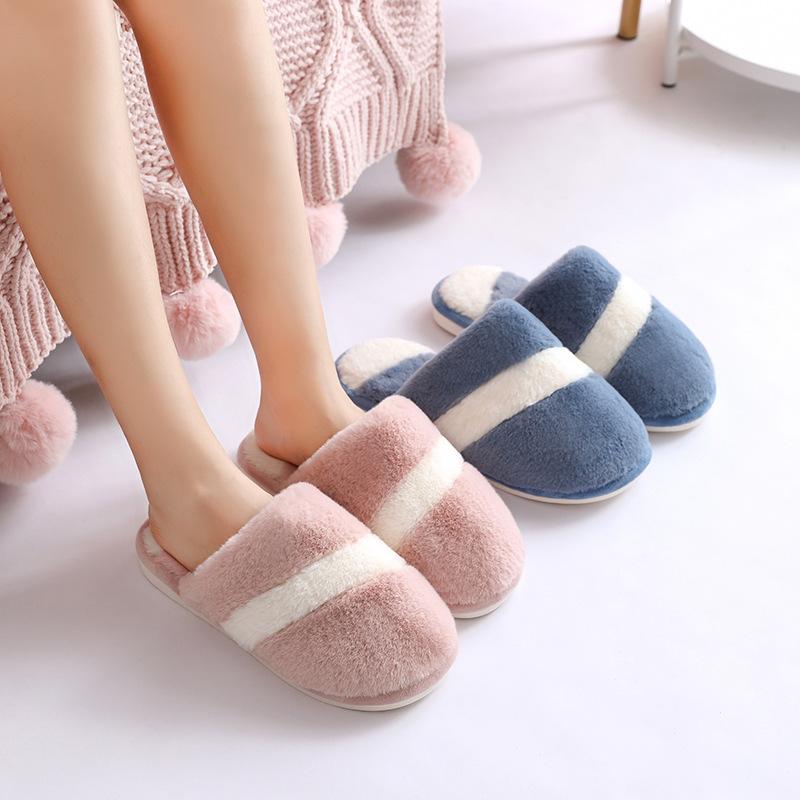 棉拖鞋女家居秋冬季室内家用情侣厚底保暖男毛绒月子鞋女冬天