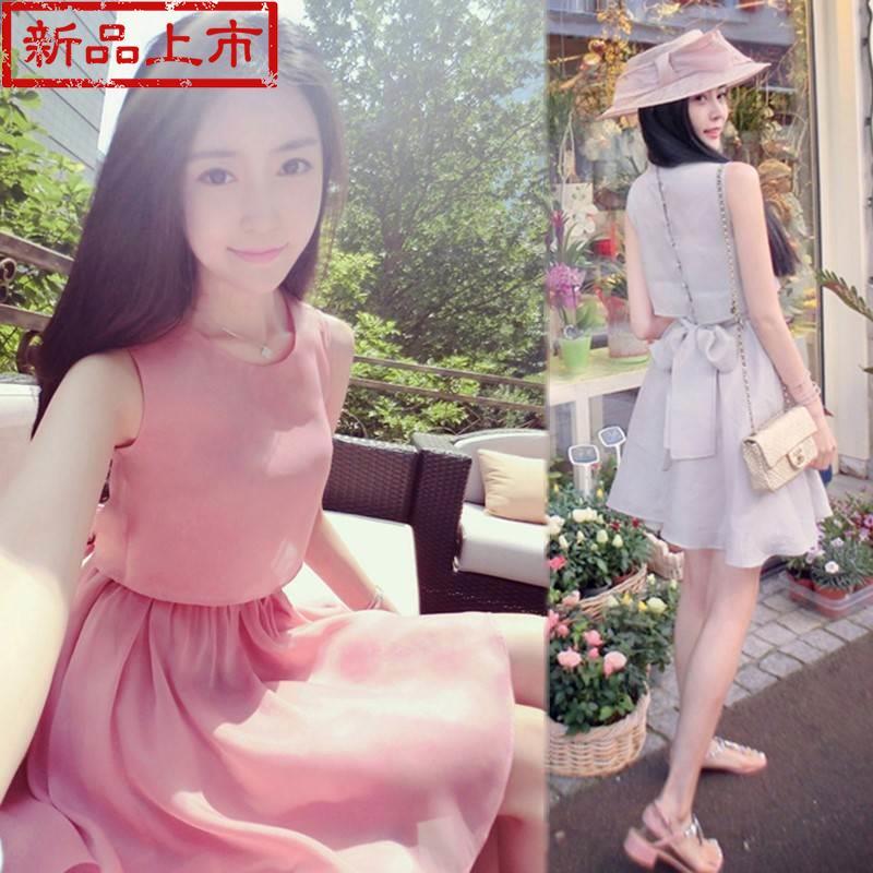 矮个子女生高腰155cm雪纺150短裙(非品牌)