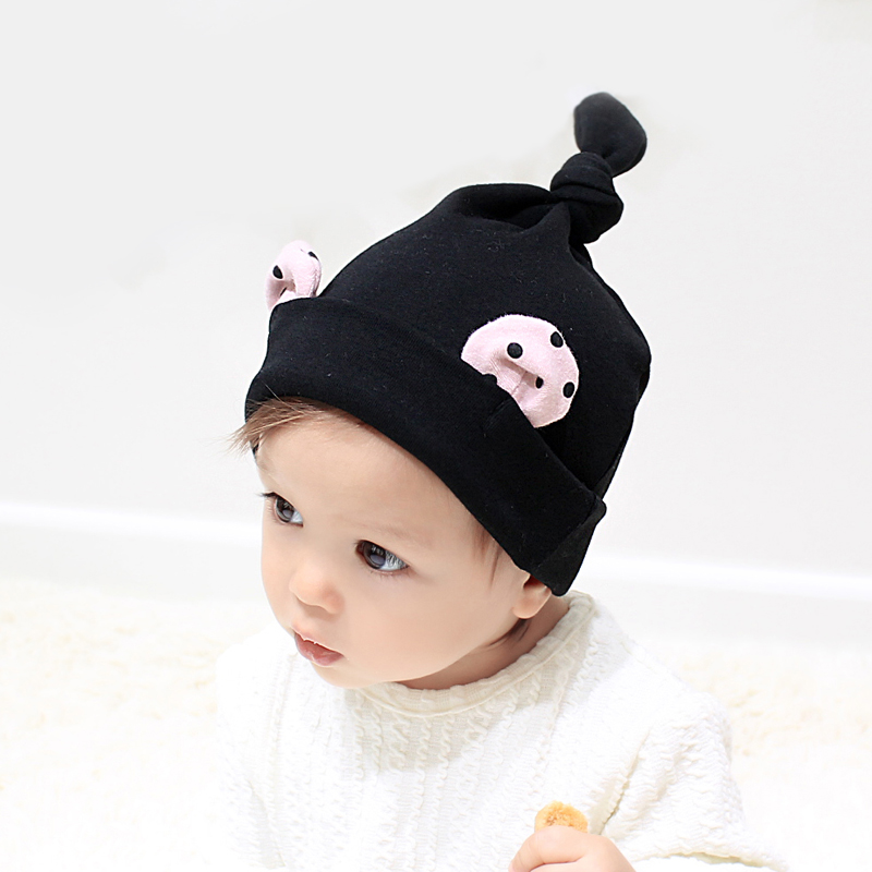 10月30日最新优惠韩国婴儿帽子0-3-6-12个月秋冬季新款男女宝宝胎帽子1-2岁套头帽