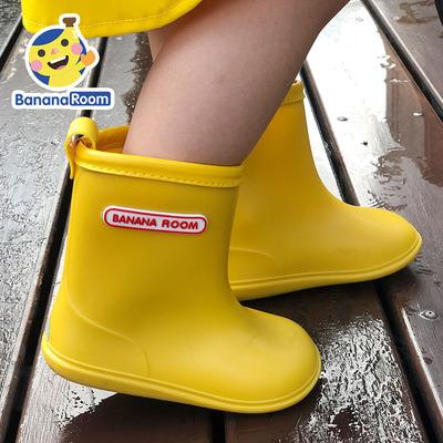儿童雨鞋男童女童小中大童幼儿园宝宝小孩小学生水鞋胶鞋套鞋防护