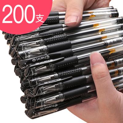 200支创易中性笔0.5mm黑色水笔经典欧标子弹头签字笔办公学生文具用品批发包邮大容量针管型巨能写学霸刷题笔