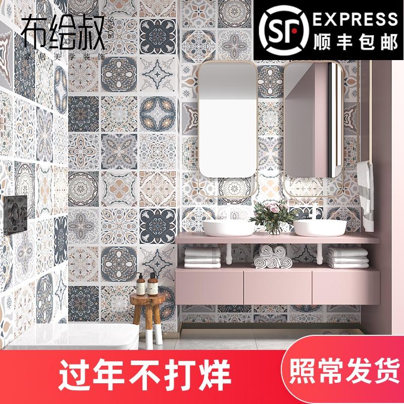 衛生間貼紙防水廚房墻貼浴室洗手間壁紙遮丑自粘墻紙廁所地仿瓷磚