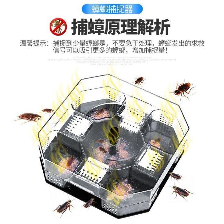 诱捕器捕抓蟑螂神器 家用 厨房 灭蟑螂饵除捉杀虫捕捉器宿舍灭杀