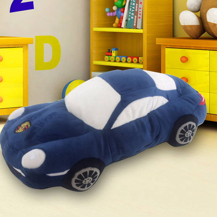 满49元可用2元优惠券毛绒玩具汽车摆件车内保时捷形状模型抱枕男孩喜欢生日礼物公仔