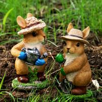 查看仿真动物兔子摆件户外花园杂货装饰造景草坪景观可爱造型树脂雕塑价格