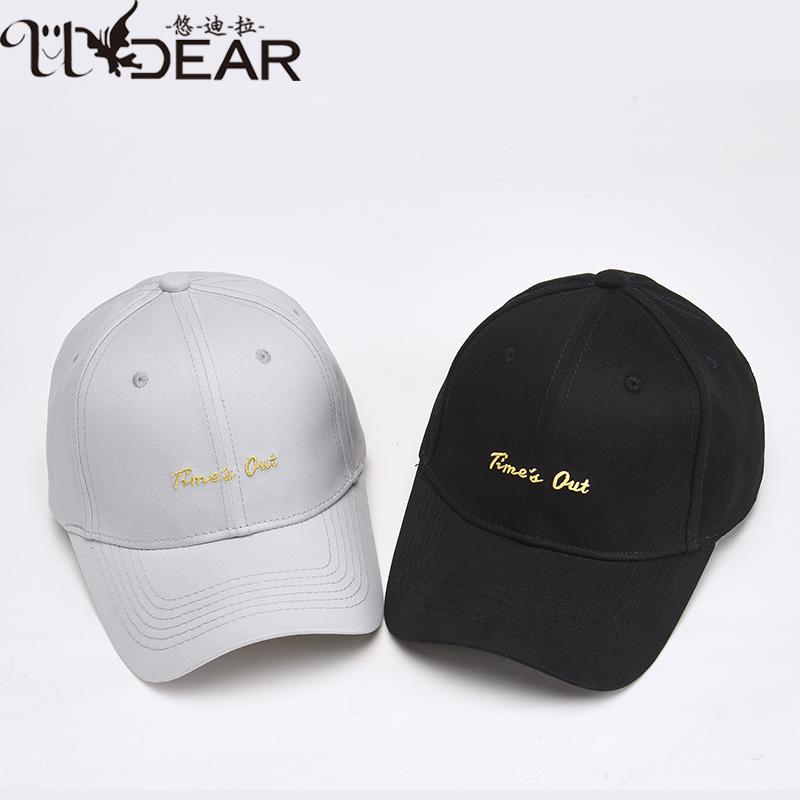 Yudila fashion cap womens new big childrens letter embroidery simple baseball cap summer sun hat
