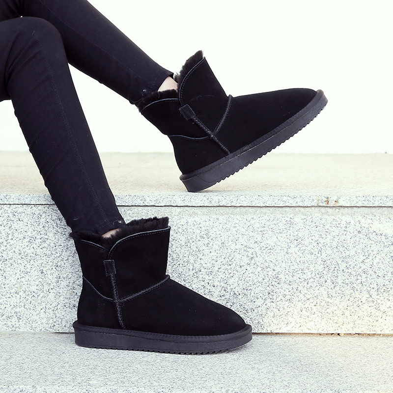 2019 new fashion fashion fur integrated snow boots for women
