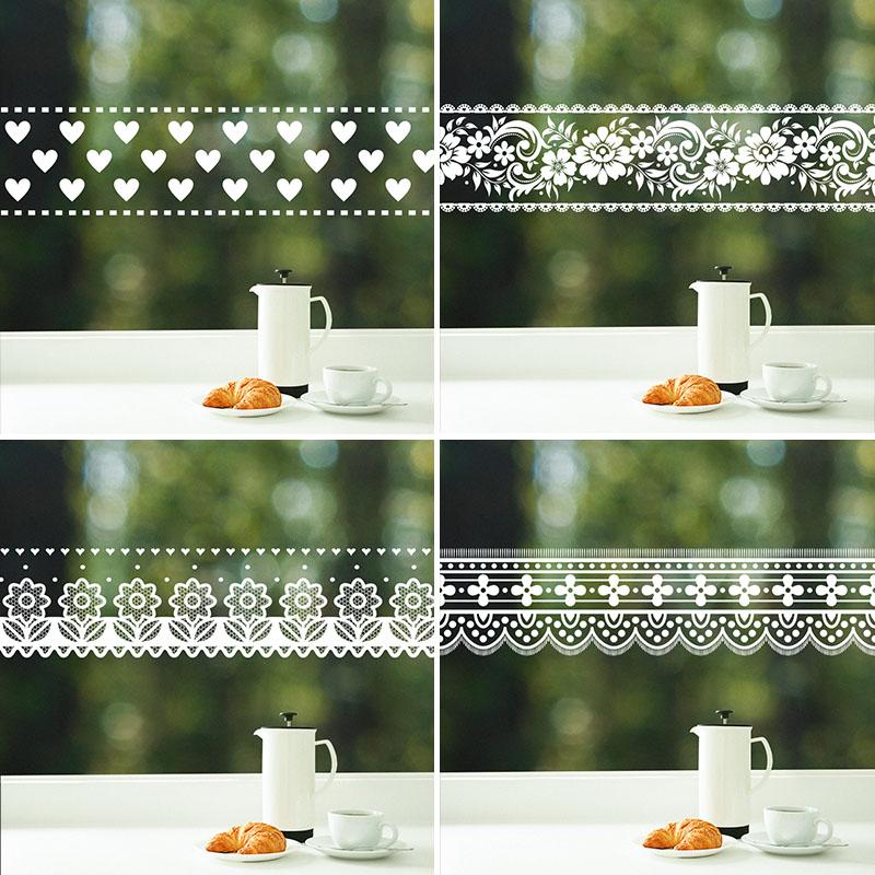 玻璃贴纸创意防撞腰线窗户推拉门装饰浴室玻璃门横条腰线自粘贴纸