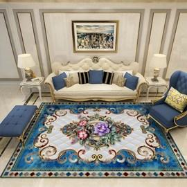 北欧美式大地毯宫廷客厅卧室家用毯沙发茶几垫子房间满铺水洗定制