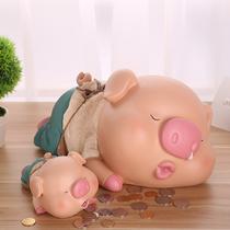 网红存钱罐猪创意抖音大容量不可取儿童储蓄罐储钱罐只进不出防摔
