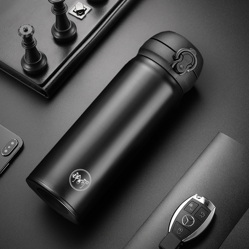 Thermos cup male and female car stainless steel tea cup xiangdonkey home office student lettering portable water cup