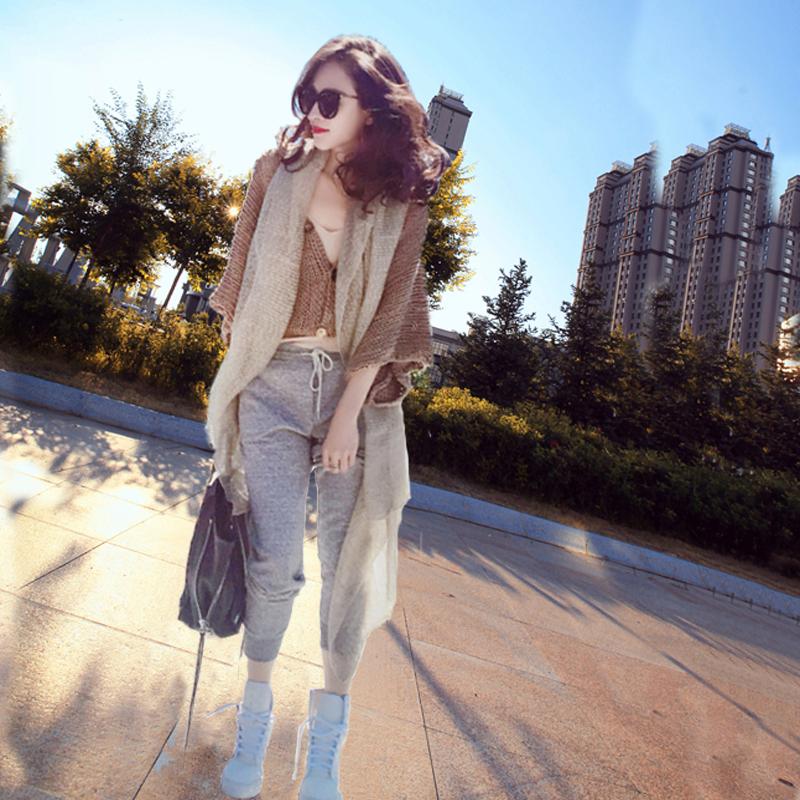 洋气新店REDMEMORY 气质时髦浅米色围巾 实用披肩外搭春秋新款潮