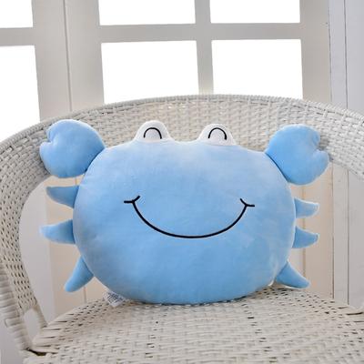 螃蟹抱枕毛绒玩具公仔可爱大闸蟹玩偶靠垫布娃娃巨蟹座女孩礼物软