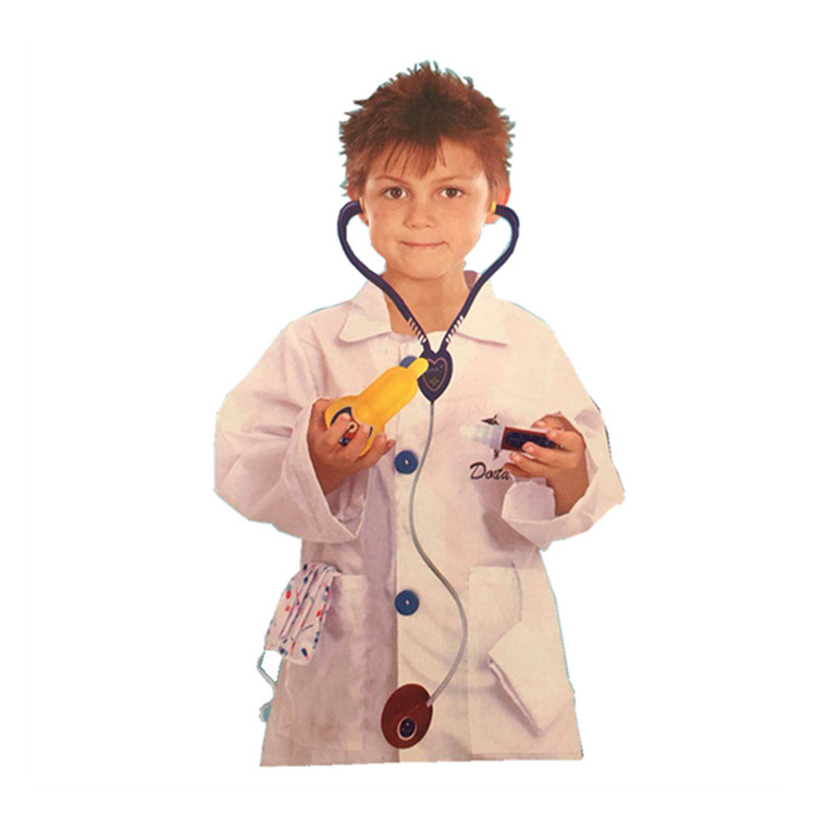 Festival role play Stage Costume White Halloween Costume doctor performance costume foreign trade boys and children