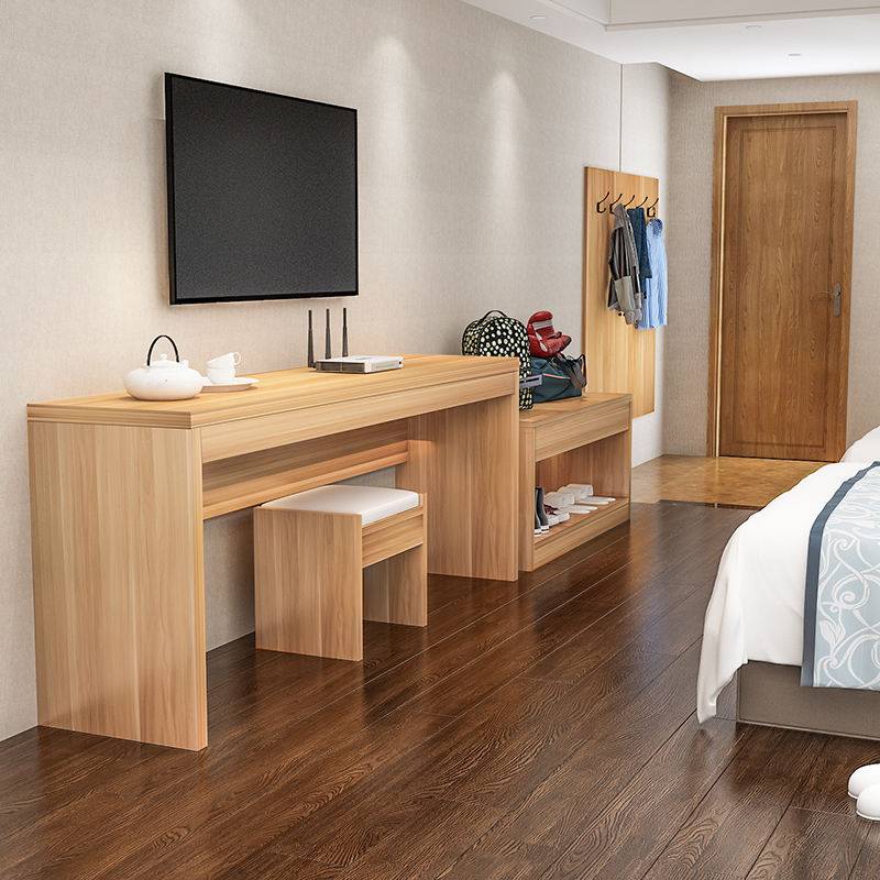 Simple modern hotel TV cabinet hotel furniture TV cabinet luggage cabinet bedside table clothes hanging board