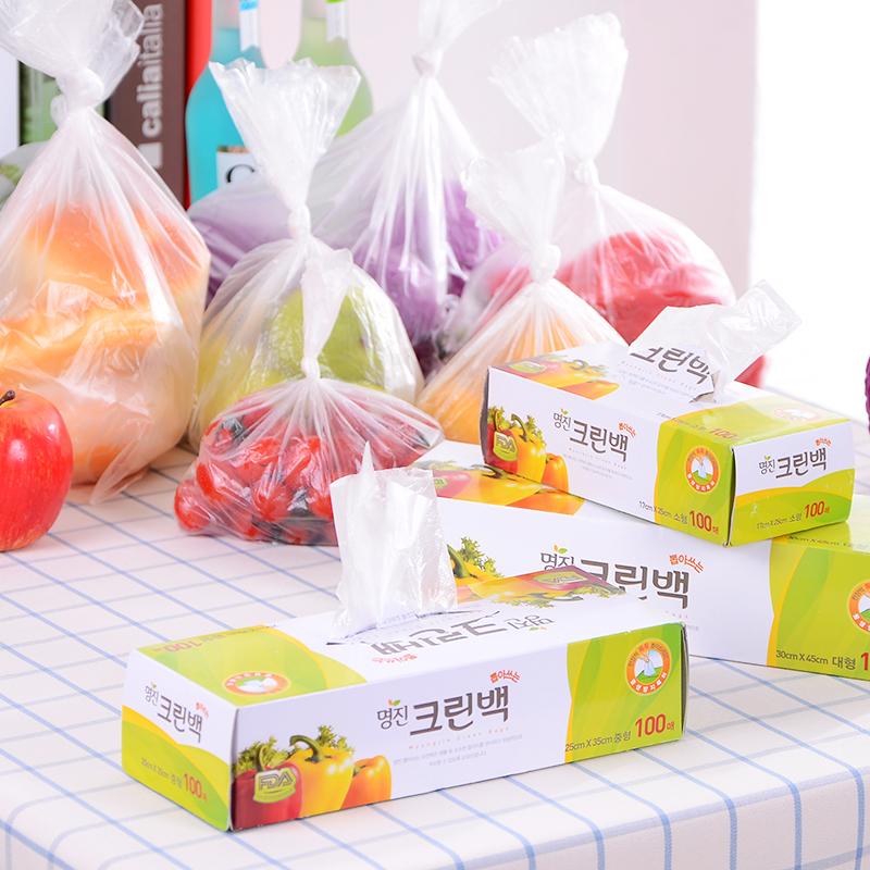 Импорт из южной кореи сохранение мешок домой холодильник фрукты печать еда мешок большой размер небольшой нет пакета упаковывать в пакет сын 100 месяцы