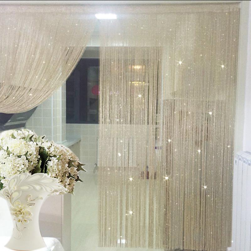 «Фирменные» крыльцо шторы гардины шторы, занавес, отрезать Серебряная нить не ранить Корейский декоративные занавески