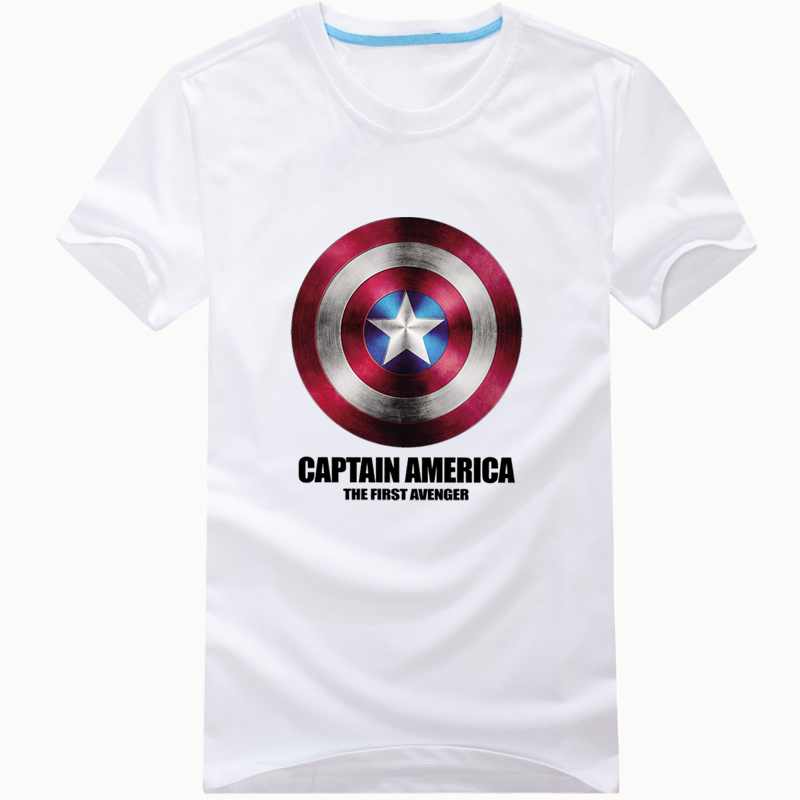 Summer oversize trendy US captain T-shirt short sleeve mens US captain 2 shield clothes cotton brother half sleeve