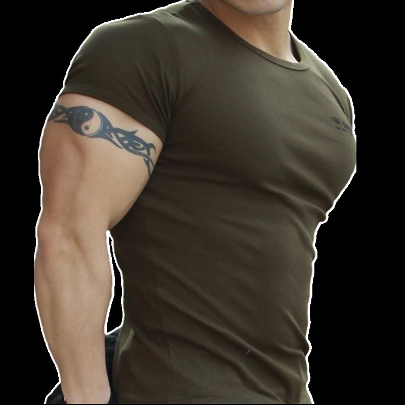 限4000张券夏季特种兵短袖健美紧身纯棉t恤