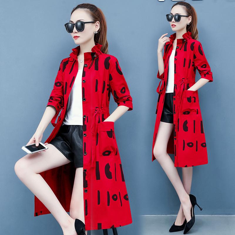 思曼莉雪千羽韩采西2020秋装新款流行薄款女风衣洋气韩版宽松气质图片