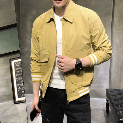 型男风修身纯色大口袋夹克上衣B297-801-P85