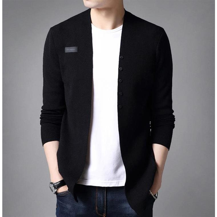 Hong Kong autumn and winter mens knitted cardigan with sweater