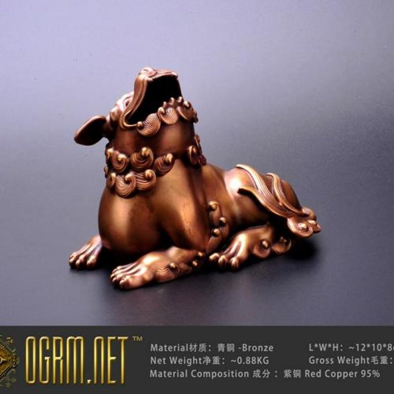 奥格瑞玛 青铜精工 狻猊香炉 狮子香炉 中国风 熏香炉 霸气 特价