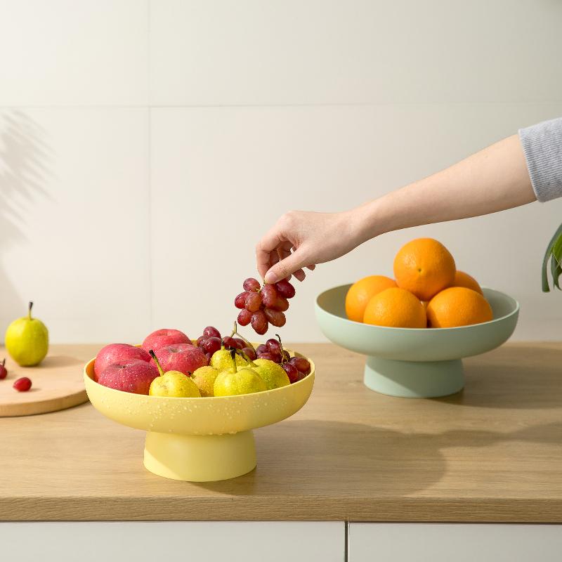 述物北欧ins水果盘沥水篮塑料家用糖果碟瓜果创意客厅果盆水果篮