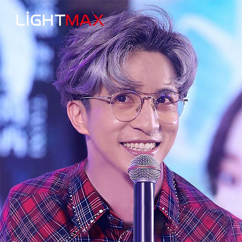 Lightmax star gold wire glasses mens and womens fashion half frame retro round frame slim half frame eyewear tb903