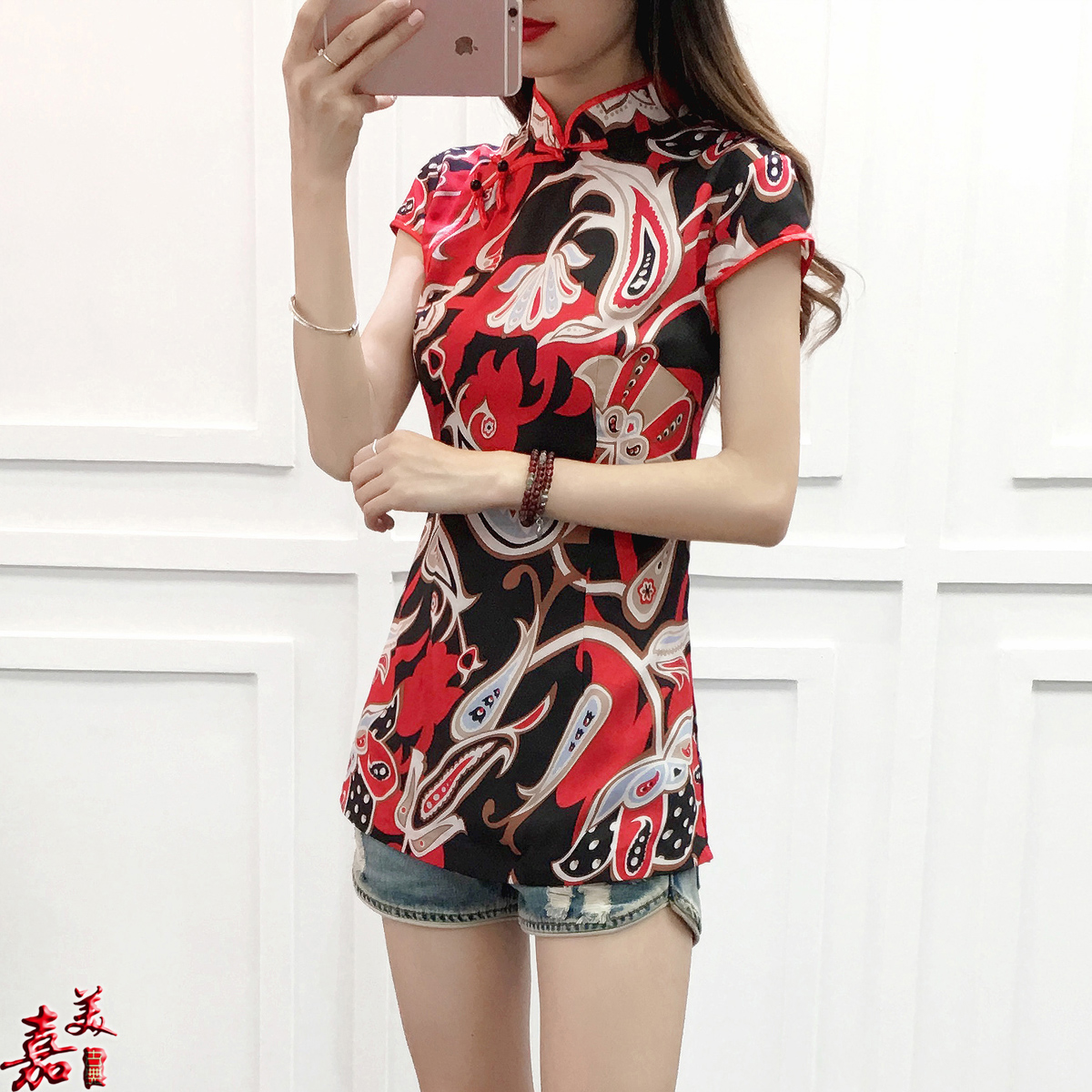 中式民国风女装夏季新款唐装中国风修身改良透气旗袍上衣唐装女士