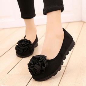 老北京女软底舒适上班时尚款布鞋
