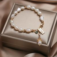 巴洛克天然珍珠手链女ins小众设计冷淡风网红14K异形珠子手串礼物