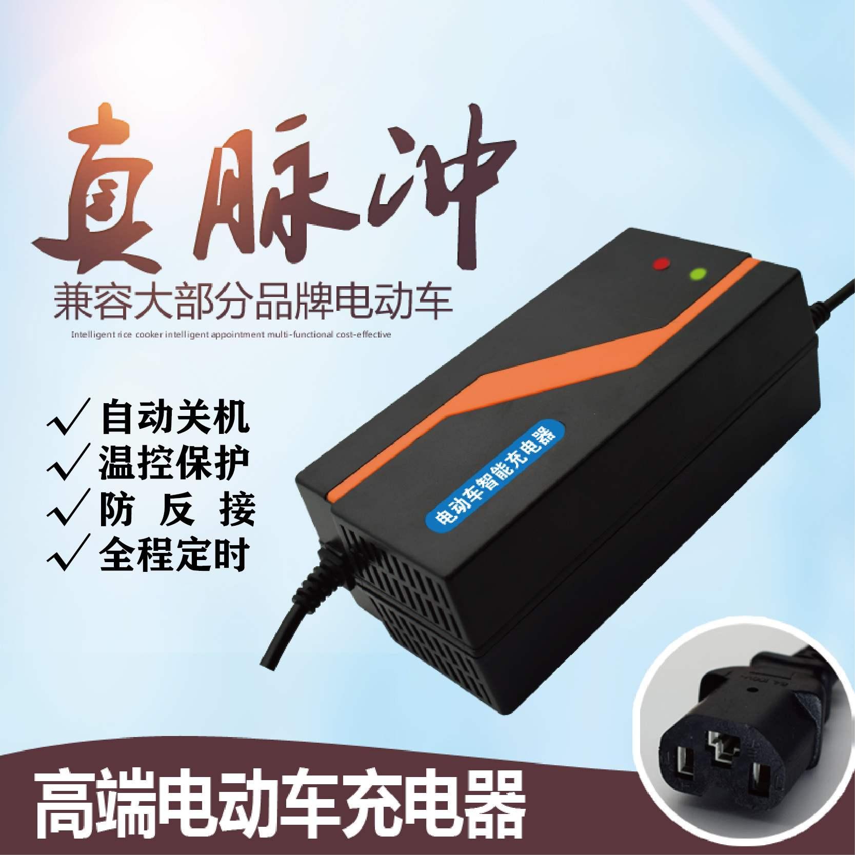 電動車電瓶充電器48V12AH20AH60V72伏新日愛瑪超威電車三輪車通用