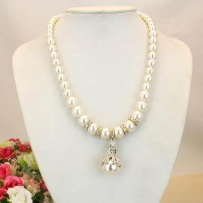 女短款锁骨链韩版时尚首饰装饰水钻珍珠项链性感简约流行饰品新