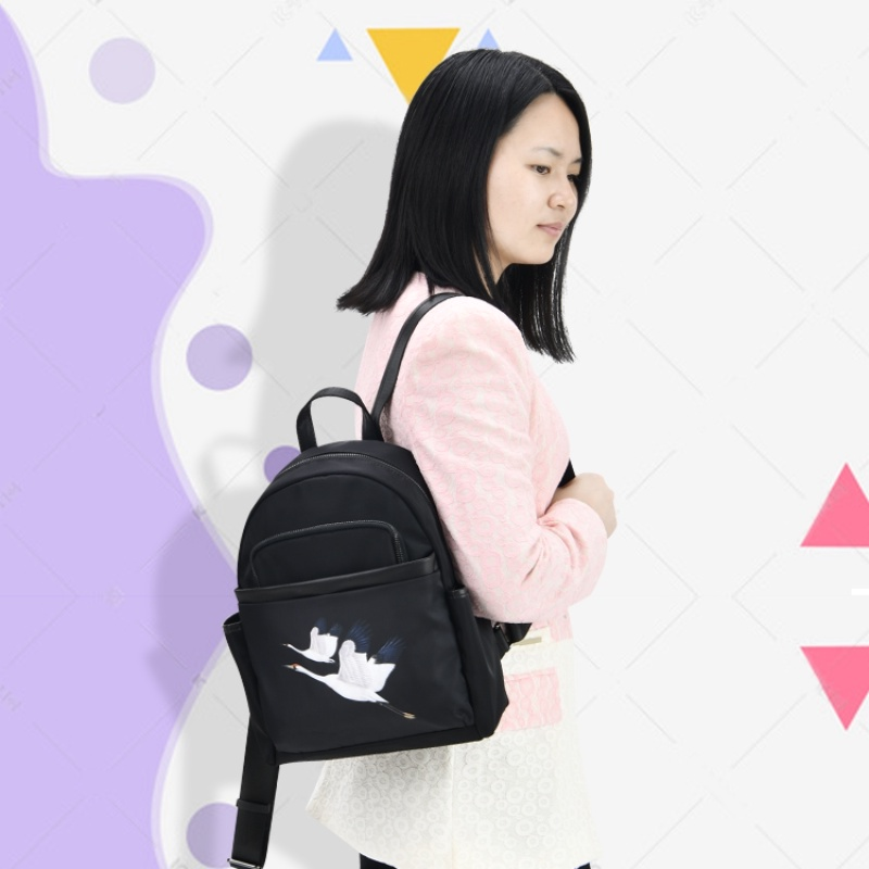 Backpack womens 2020 new versatile fashion ins super fire backpack canvas high capacity Korean Oxford waterproof cloth