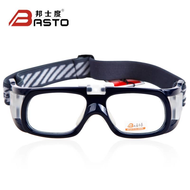 篮球足球眼镜运动眼镜近视防雾护目眼镜框男L006
