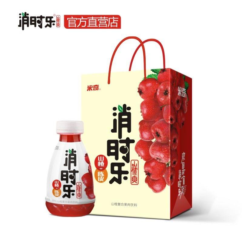 消时乐山楂爽果汁饮料380ml*12瓶山楂+陈皮欢聚食刻消时乐 整箱