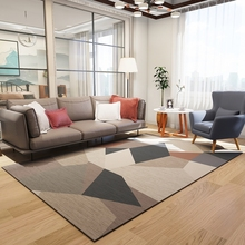 Light luxury northern Europe simple wind living room large carpet bedroom full of geometric style tea table mat room lovely and machine washable