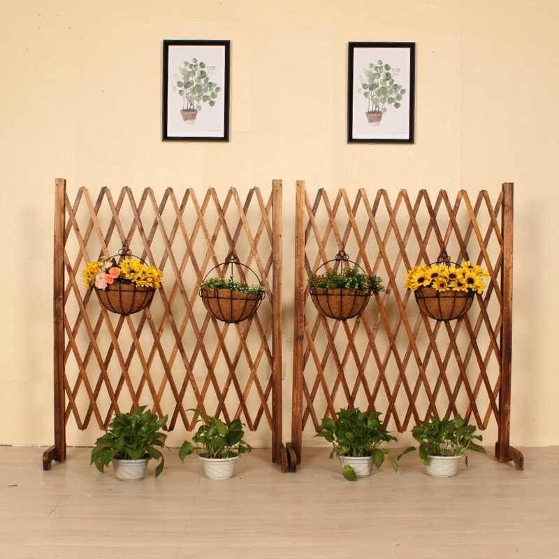 レストランの家庭園芸の囲いベランダの花園の扉の柵の簡易的な柵の装飾品はかごの柵に登ります