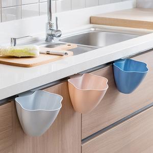 挂式垃圾桶厨房橱柜门可壁挂式家用创意收纳桶卧室迷你分类垃圾桶