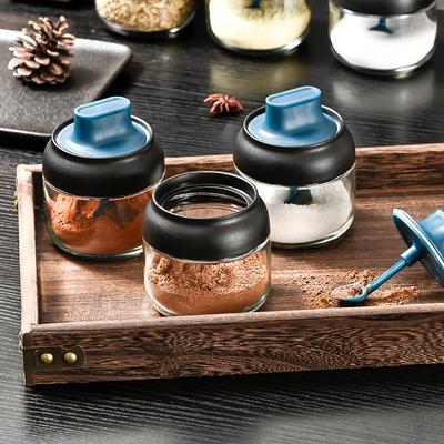 调味罐调料瓶玻璃家用厨房收纳密封调味瓶油壶装盐味精调料盒套装