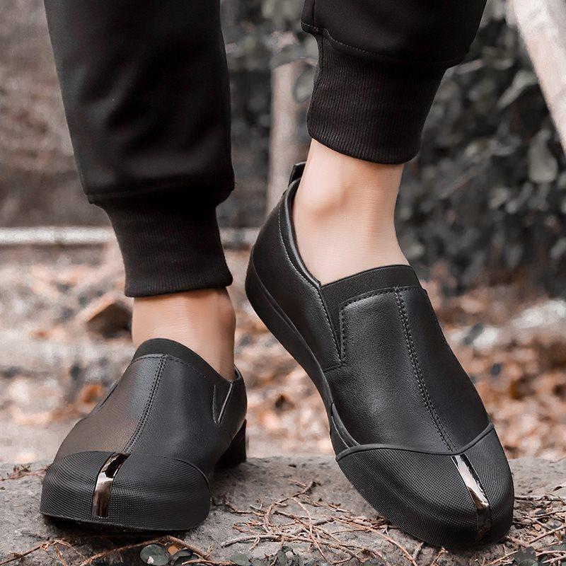 一登脚懒人鞋雨天防水鞋男版青少年时尚一脚蹬懒汉鞋无鞋带休闲鞋