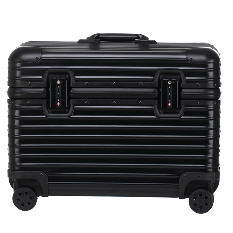 All aluminum alloy photography Trolley Case Suitcase suitcase suitcase toolbox top cover code board case red wine woman and man