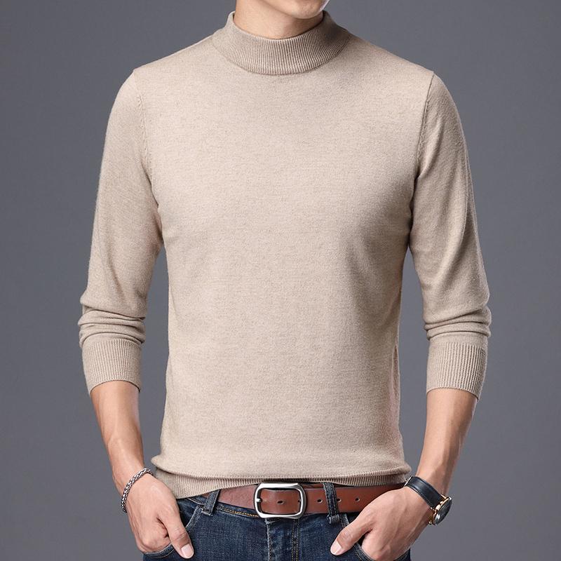 男士半高领毛衣长袖羊毛衫