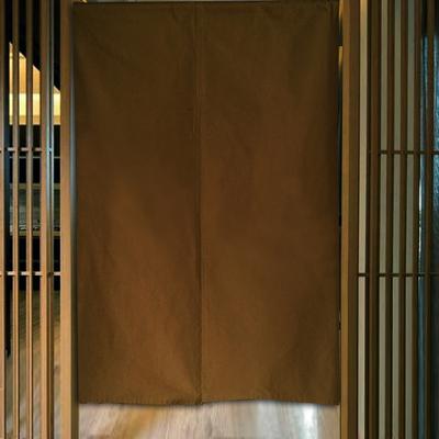 素色帆布棉麻门帘对开家居布艺软饰多色日式玄关店铺定制质朴挂帘