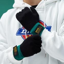 男士触屏户外开车秋冬季保暖手套