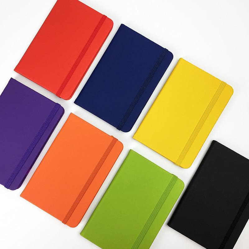 彩色笔记本子A5小清新创意日记本手账本A6商务企业绑带本定制logo