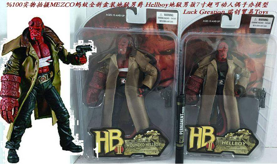 RuiChuang Mezco ant hell Baron Hellboy 7 inch super movable doll hand model/