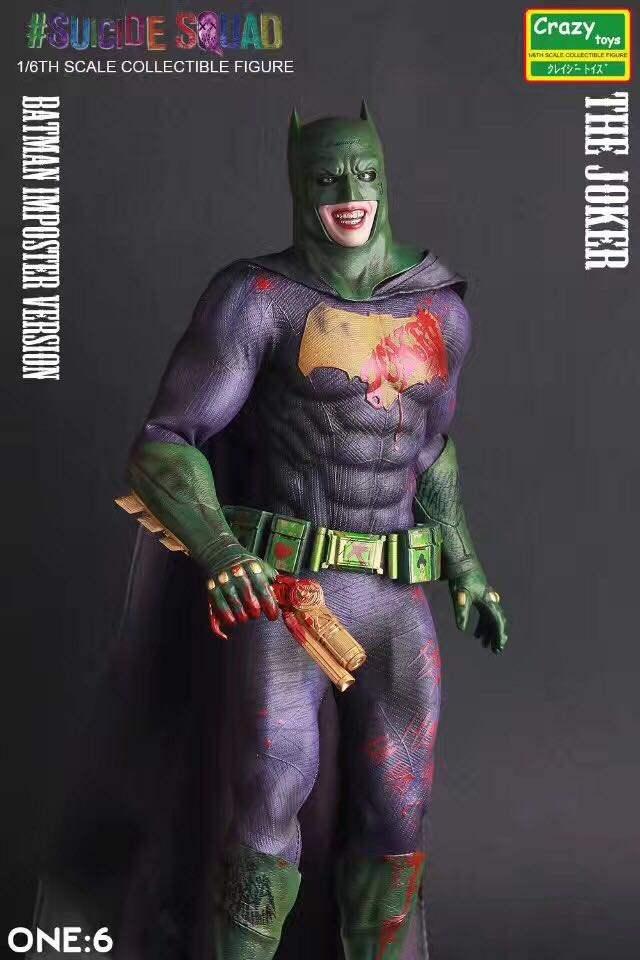 Crazy toys 蝙蝠侠:恶棍画廊 12寸小丑变体蝙蝠侠 模型 手办摆件
